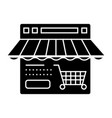 online shop icon sign o vector image