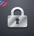 Pad Lock icon symbol 3D style Trendy modern design vector image vector image