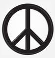 peace sign logo vector image vector image