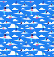 people flying on paper planes seamless vector image vector image