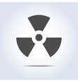 Radioactivity icon in gray colors vector image vector image