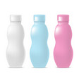 realistic template blank color yoghurt bottle pack vector image