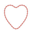 red chain in shape of heart vector image