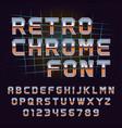 retro 80s chrome font