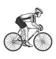 road bicycle racer sketch engraving vector image vector image