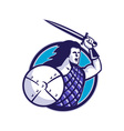 scottish hilander sword shield vector image vector image
