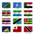 Set Flags of world sovereign states vector image vector image