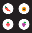 set of dessert icons flat style symbols with chili vector image vector image