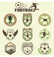 set soccer football vector image vector image