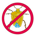 sign insect bedbug prohibiting vector image