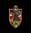 soldier insignia vector image vector image