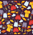 sport clothes in seamless pattern vector image vector image