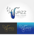 stylized image of saxophone vector image vector image