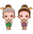 thai kids vector image