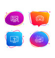 touch screen seo analytics and car icons set vector image vector image