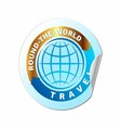 Travel The World Icon vector image