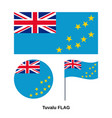 tuvalu flag official national state sign vector image