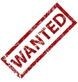 Wanted rubber stamp vector image vector image