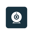 web camera icon Rounded squares button vector image vector image