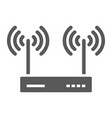 wifi router glyph icon electronic and network vector image