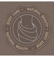 with Body Care Natural Beauty vector image vector image
