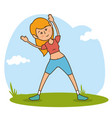 woman character healthy lifestyle vector image
