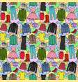 woman clothes colorful seamless pattern vector image vector image