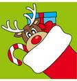 Reindeer wishing Merry Christmas vector image