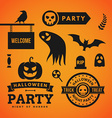 Set of Halloween and Decorative Elements vector image
