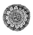 Black outline flower vector image