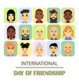 a lot of friends of different genders and vector image vector image