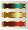 a set of rectangular frames of different colors vector image vector image