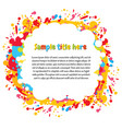 abstract color splash space for text vector image