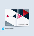 abstract colourful brochure in material design vector image