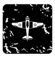 Army plane icon grunge style vector image vector image