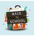 Back to School concept Backpack with school vector image vector image
