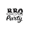 bbq and grill lettering vector image vector image