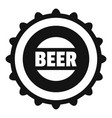 beer cap icon simple style vector image vector image