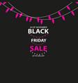 black friday sale handmade with christmas lights vector image vector image