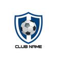 blue football emblem vector image vector image