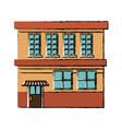 building facade store exterior shop structure vector image vector image