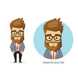 businessman with a serious expression vector image