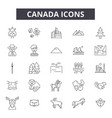 canada line icons signs set outline vector image