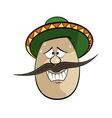Cartoon Egg Face Character vector image vector image