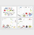 collection of card templates for making notes vector image vector image