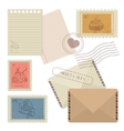 Collection of mail design elements vector image vector image