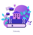 college university academy vector image