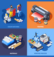 color printing design concept vector image vector image