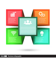 cube box for business concepts with icons vector image