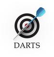 darts game emblem vector image vector image